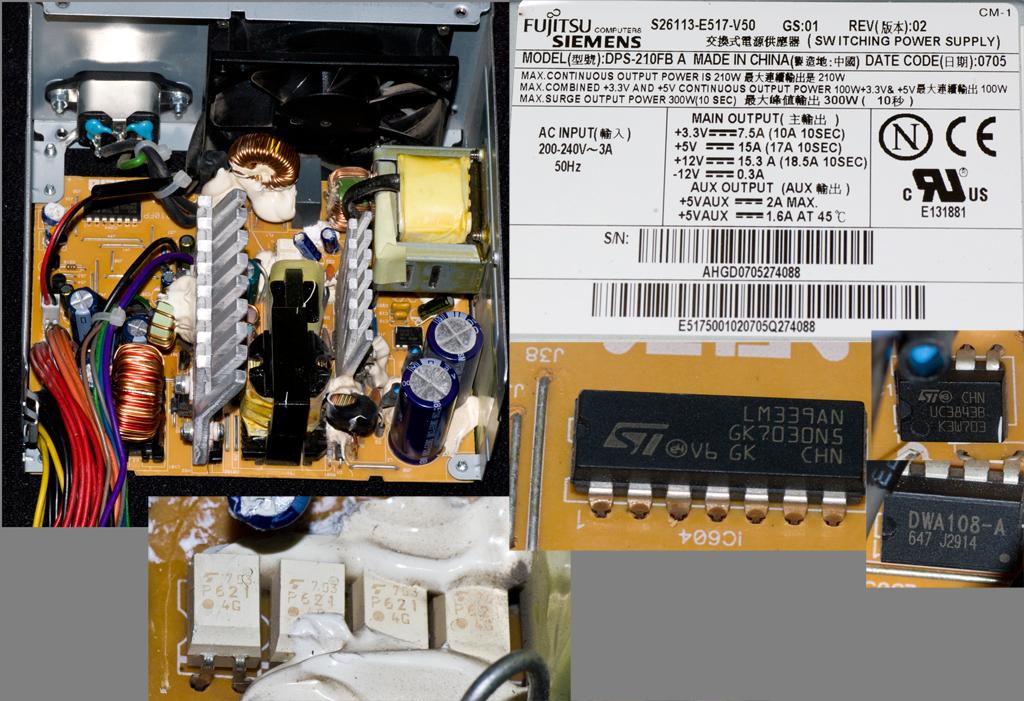 ищу схему БП DPS-210FB